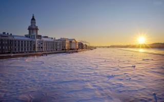 サンクトペテルブルクの冬、